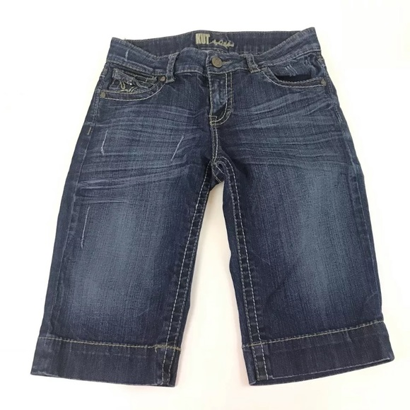 Kut from the Kloth Denim - Kut From Kloth Jeans Cropped Capris 6 Flap Pockets